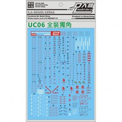Dalin Water Decal  UC06 MG Full Armor Unicorn