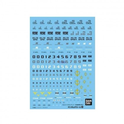 Bandai HGUC Gundam Decal for MS Earth Federation Space Force E.F.S.F. 1 GD-30